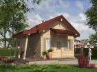 Проект одноэтажного дома с террасой